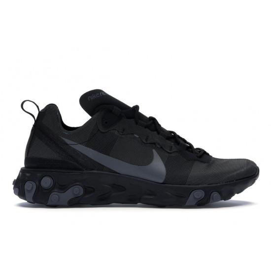 Nike React Element 55 Triple Black